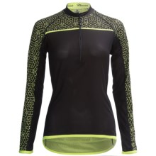Canari Chaser Cycling Jersey - Zip Neck, Long Sleeve (For Women) in Killer Yellow - Closeouts