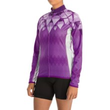 Canari Cleopatra Cycling Jersey - UPF 50+, Full Zip, Long Sleeve (For Women) in Imperial Purple - Closeouts