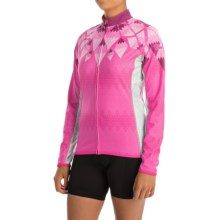 Canari Cleopatra Cycling Jersey - UPF 50+, Full Zip, Long Sleeve (For Women) in Panther Pink - Closeouts