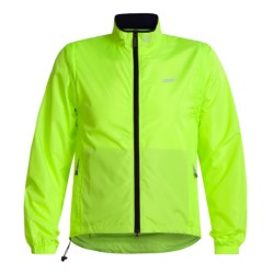 Canari Convertible Cycling Jacket - Windproof Razor Eclipse  (For Men) in Killer Yellow