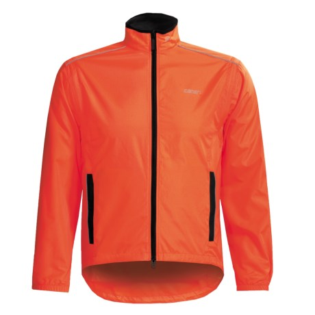 Canari Convertible Cycling Jacket - Windproof Razor Eclipse  (For Men) in Solar Orange