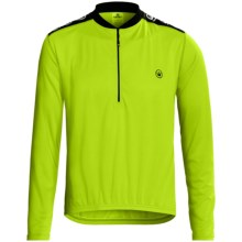 Canari Core Cycling Jersey - Zip Neck, Long Sleeve (For Men) in Killer Yellow - Closeouts
