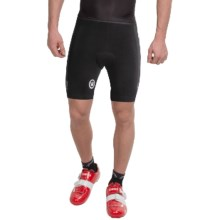 Canari Core Cycling Shorts - Stretch Cotton (For Men) in Black - Closeouts