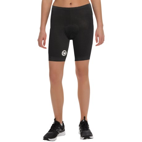 Canari Core Cycling Shorts - Stretch Cotton (For Women) in Black