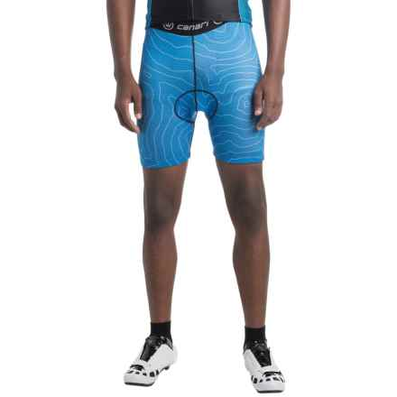 Canari Crazy Echelon Cycling Liner Shorts (For Men) in Blue Topog - Closeouts