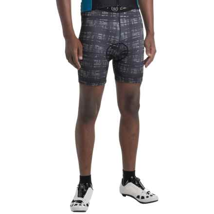 Canari Crazy Echelon Cycling Liner Shorts (For Men) in Grey Hatch - Closeouts