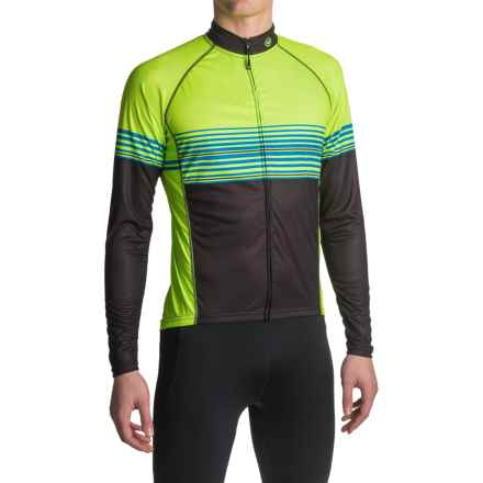Canari Cruise Cycling Jersey - UPF 30+, Long Sleeve (For Men) in Killer Yellow - Closeouts