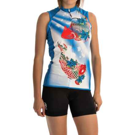 Canari Daenarys Cycling Jersey - UPF 30+, Full Zip, Sleeveless (For Women) in Breakaway Blue - Closeouts