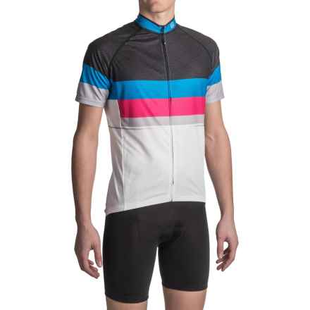 Canari Del Mar Cycling Jersey - UPF 30+, Full Zip, Short Sleeve (For Men) in Black - Closeouts