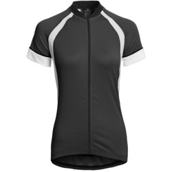 Canari Dream Cycling Jersey - Full Zip, Short Sleeve (For Women) in Black