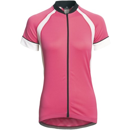 Canari Dream Cycling Jersey - Full Zip, Short Sleeve (For Women) in Cotton Candy