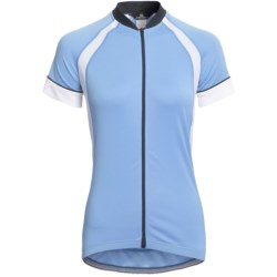 Canari Dream Cycling Jersey - Full Zip, Short Sleeve (For Women) in Morning Sky