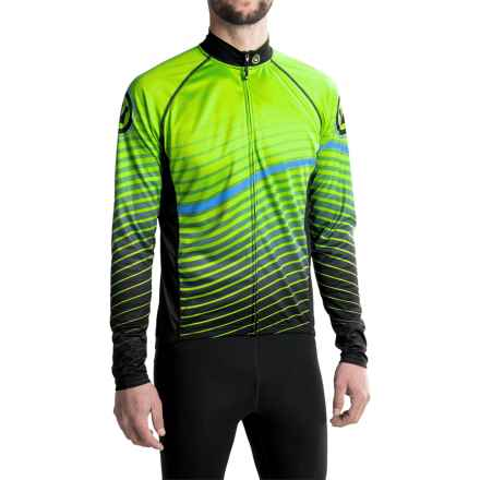 Canari Drive Cycling Jersey - UPF 30+, Full Zip, Long Sleeve (For Men) in Killer Yellow - Closeouts