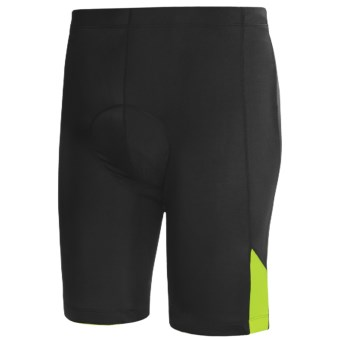 Canari Echelon Cycling Shorts (For Men) in Black/Killer Yellow