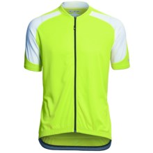 Canari Echelon Pro Cycling Jersey - Full Zip, Short Sleeve (For Men) in Killer Yellow - Closeouts
