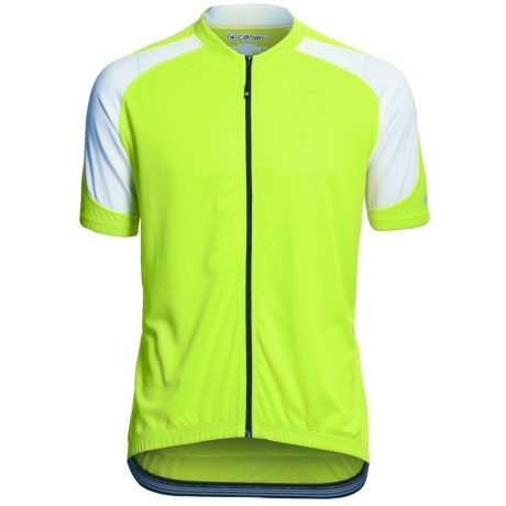 Canari Echelon Pro Cycling Jersey - Full Zip, Short Sleeve (For Men) in Killer Yellow