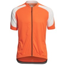 Canari Echelon Pro Cycling Jersey - Full Zip, Short Sleeve (For Men) in Solar Orange - Closeouts