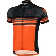 Canari Eckleburg Cycling Jersey - Short Sleeve (For Men) in Lava - Closeouts