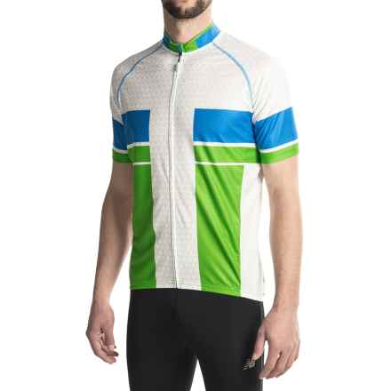 Canari Encinitas Cycling Jersey - UPF 30+, Full Zip, Short Sleeve (For Men) in Ecto Green - Closeouts