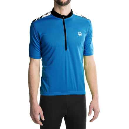 Canari Essential Cycling Jersey - UPF 30+, Zip Neck, Short Sleeve (For Men) in Azure Blue - Closeouts
