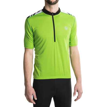 Canari Essential Cycling Jersey - UPF 30+, Zip Neck, Short Sleeve (For Men) in Ecto Green - Closeouts