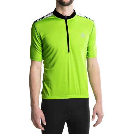 Canari Essential Cycling Jersey - UPF 30+, Zip Neck, Short Sleeve (For Men) in Killer Yellow - Closeouts