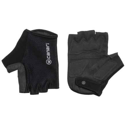 Canari Essential Gloves - Fingerless (For Men) in Black - Closeouts