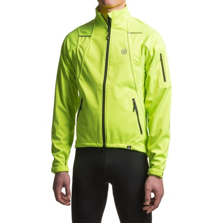 Canari Everest Cycling Jacket - Soft Shell (For Men) in Killer Yellow