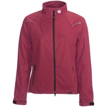 Canari Everest Cycling Jacket - Soft Shell (For Women) in Crimson - Closeouts