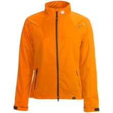 Canari Everest Cycling Jacket - Soft Shell (For Women) in Persimmon - Closeouts