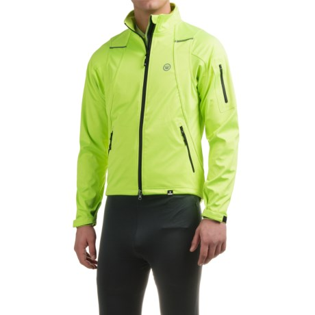 Canari Everest Soft Shell Cycling Jacket (For Men) in Killer Yellow