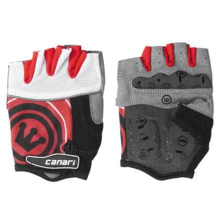 Canari Evolution Gel Bike Gloves (For Men) in Crimson Red - Closeouts