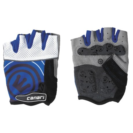 Canari Evolution Gel Bike Gloves (For Men) in Sapphire