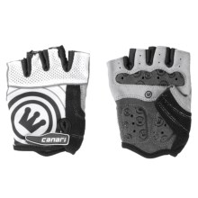 Canari Evolution Gel Cycling Gloves (For Men) in White - Closeouts