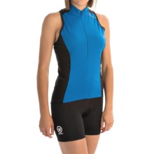 Canari Fay Cycling Jersey - UPF 30+, Zip Neck, Sleeveless (For Women) in Breakaway Blue - Closeouts