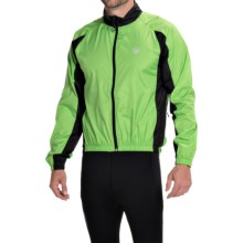 Canari Flash Cycling Jacket - Full Zip (For Men) in Ecto Green - Closeouts