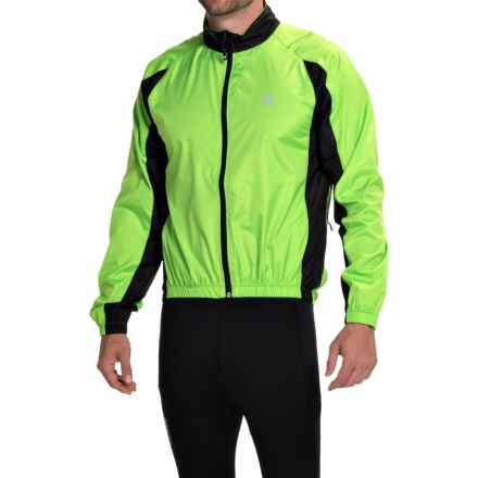 Canari Flash Cycling Jacket - Full Zip (For Men) in Killer Yellow - Closeouts