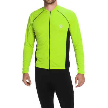 Canari Flash Cycling Jersey - Full Zip, Long Sleeve (For Men) in Killer Yellow - Closeouts