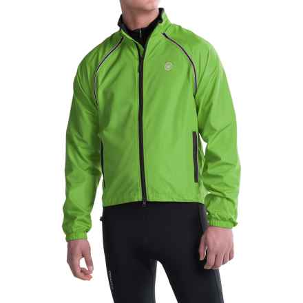 Canari Flash Transition Cycling Jacket (For Men) in Ecto Green - Closeouts