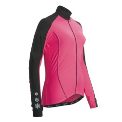Canari Flurry Cycling Jersey - Long Sleeve (For Women) in Blossom