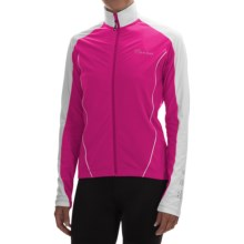 Canari Flurry Cycling Jersey - Long Sleeve (For Women) in Panther Pink - Closeouts