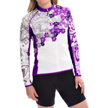 Canari Gale Cycling Jersey - Full Zip, Long Sleeve (For Women) in Imperial Purple - Closeouts