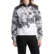 Canari Gale Wind Shell Cycling Jacket (For Women) in Black/White - Closeouts