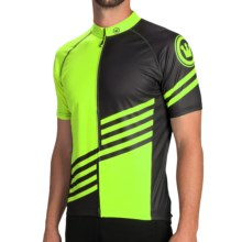 Canari Gallien Cycling Jersey - Short Sleeve (For Men) in Killer Yellow - Closeouts