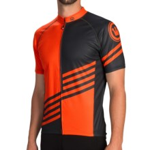 Canari Gallien Cycling Jersey - Short Sleeve (For Men) in Lava - Closeouts