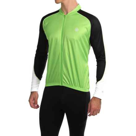 Canari Hammer Core Cycling Jersey - Long Sleeve (For Men) in Ecto Green - Closeouts