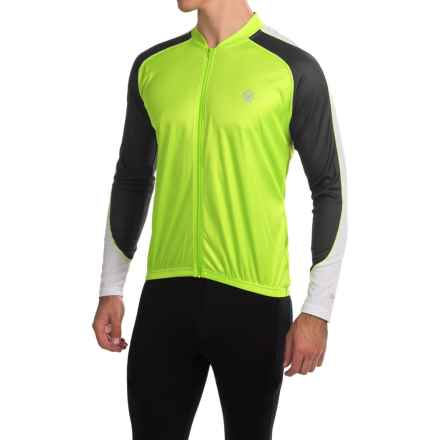Canari Hammer Core Cycling Jersey - Long Sleeve (For Men) in Killer Yellow - Closeouts