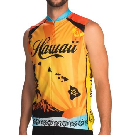 Canari Hawaii LI Cycling Jersey - Sleeveless (For Men) in Sun