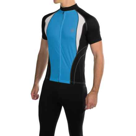 Canari Jorah Cycling Jersey - Full Zip, Short Sleeve (For Men) in Azure Blue - Closeouts