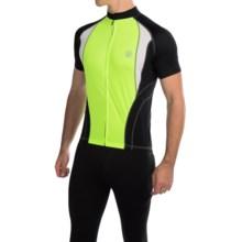 Canari Jorah Cycling Jersey - Full Zip, Short Sleeve (For Men) in Killer Yellow - Closeouts